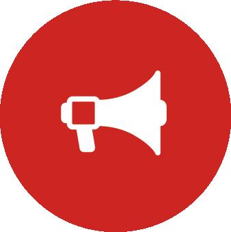 Icône Mégaphone - Alarme Confinement - PrevInter