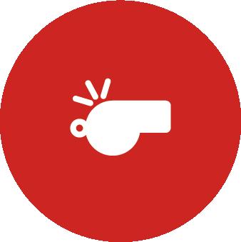 Icône sifflet - Alarme de Confinement - PrevInter